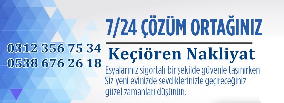 Ankara Keçiören Evden Eve Nakliyat